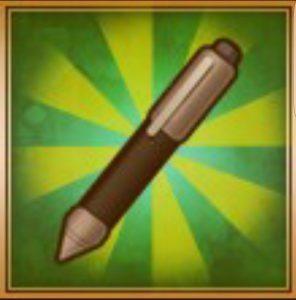 鋭利なペン